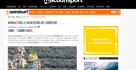 Windaction su 4Windsurf Dicembre 2015